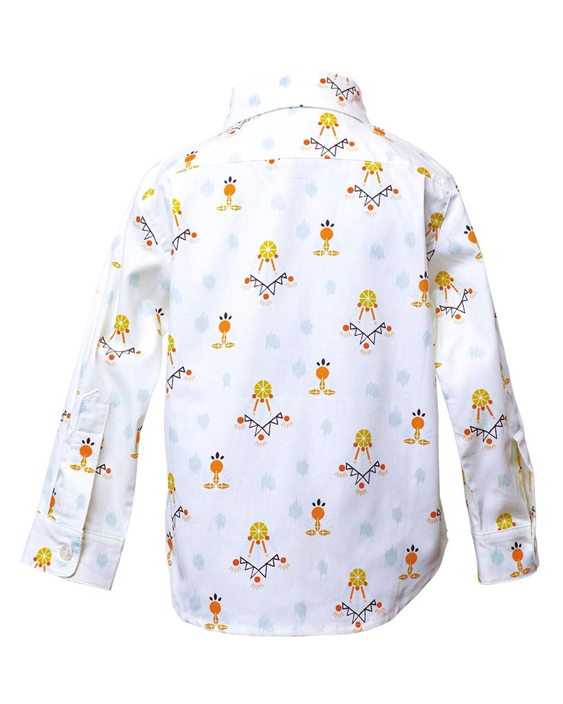 Kids Dreamcatcher Print Long Sleeve Button Up Back.jpg