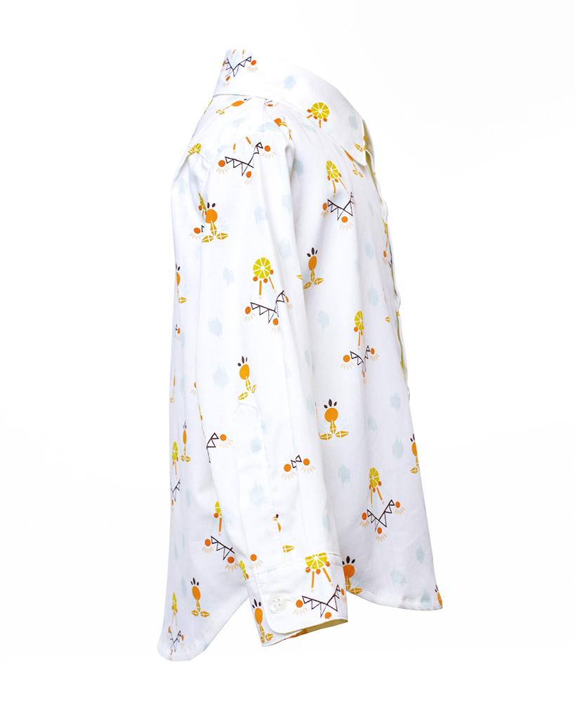 Kids Dreamcatcher Print Long Sleeve Button Up Side.jpg