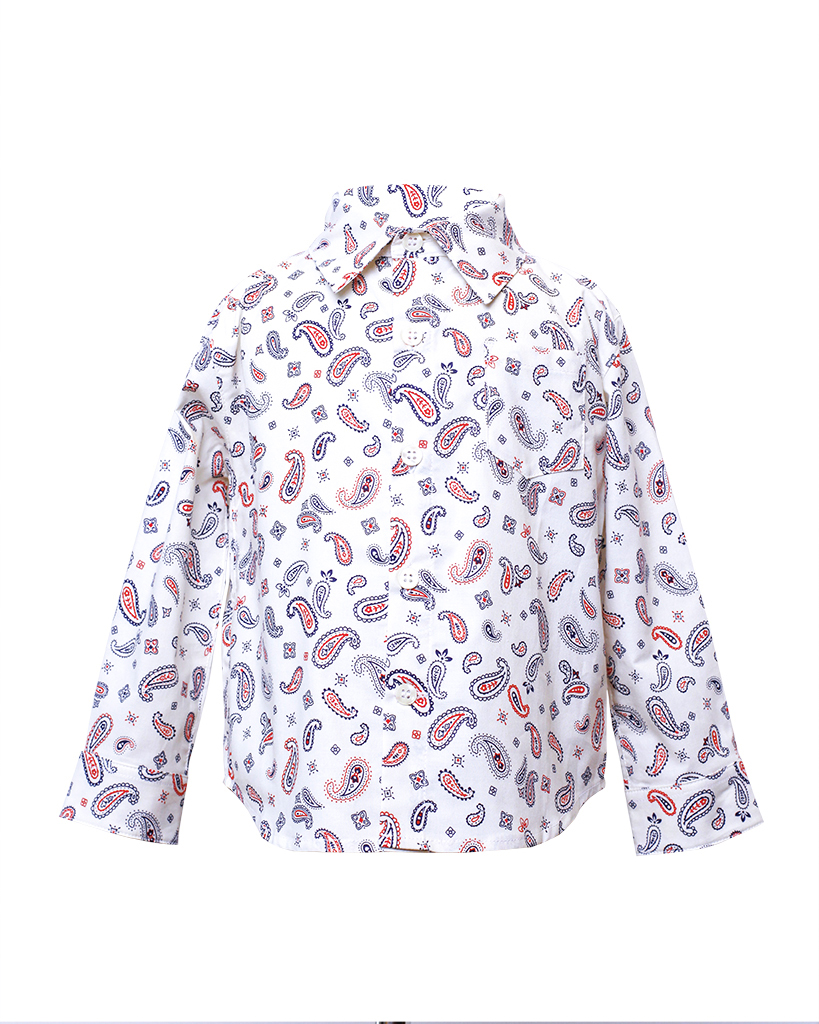 Kids White Paisley Print Long Sleeve Button Up Back.jpgKids White Paisley Print Long Sleeve Button Up Front.jpg