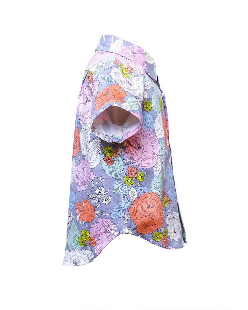 Kids Floral Print Short Sleeve Button Up Side.jpg
