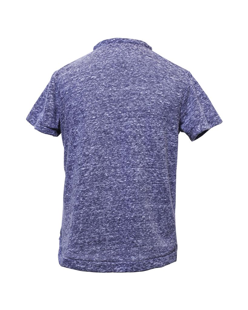 Kids Navy Henley Shirt Back.jpg
