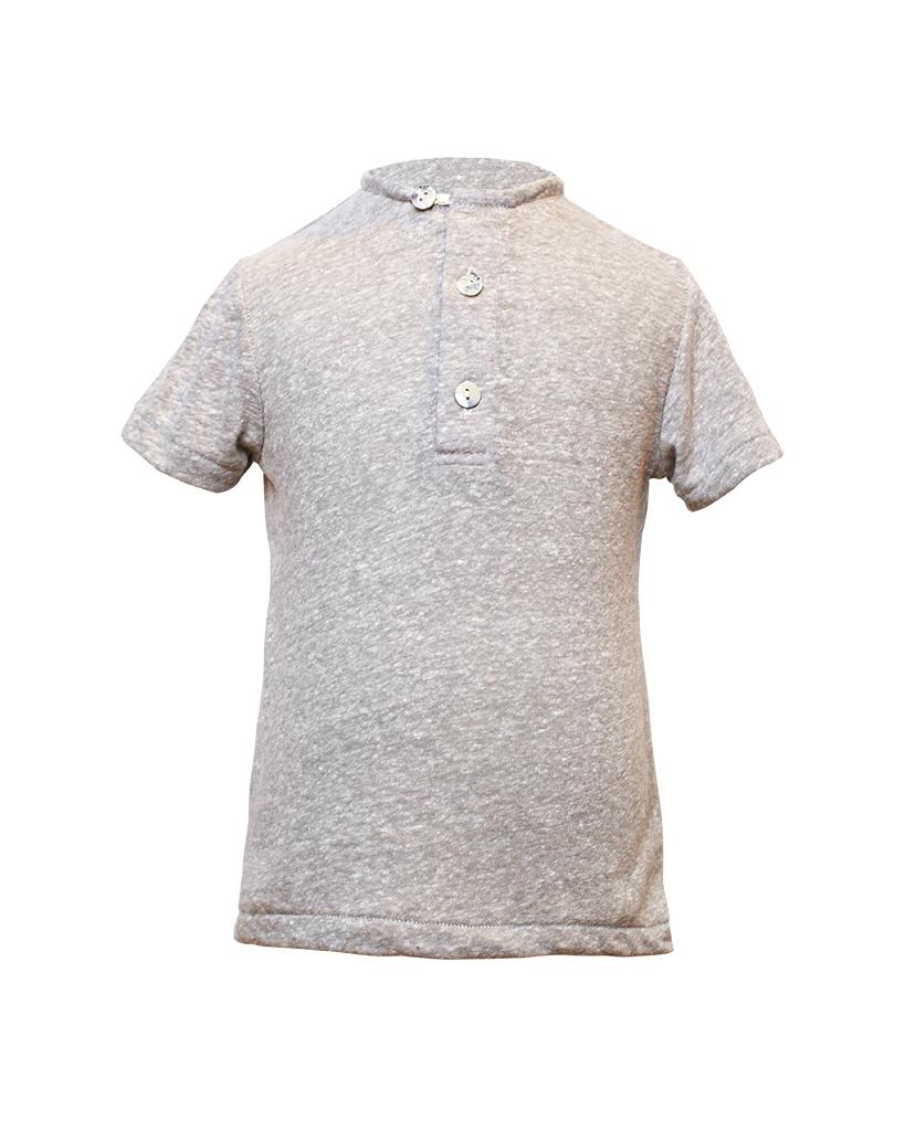 Kids Grey Henley Shirt Front.jpg