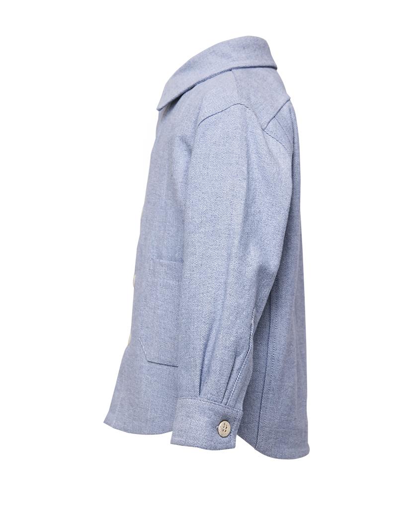 Kids Light Blue Denim Jacket Side.jpg