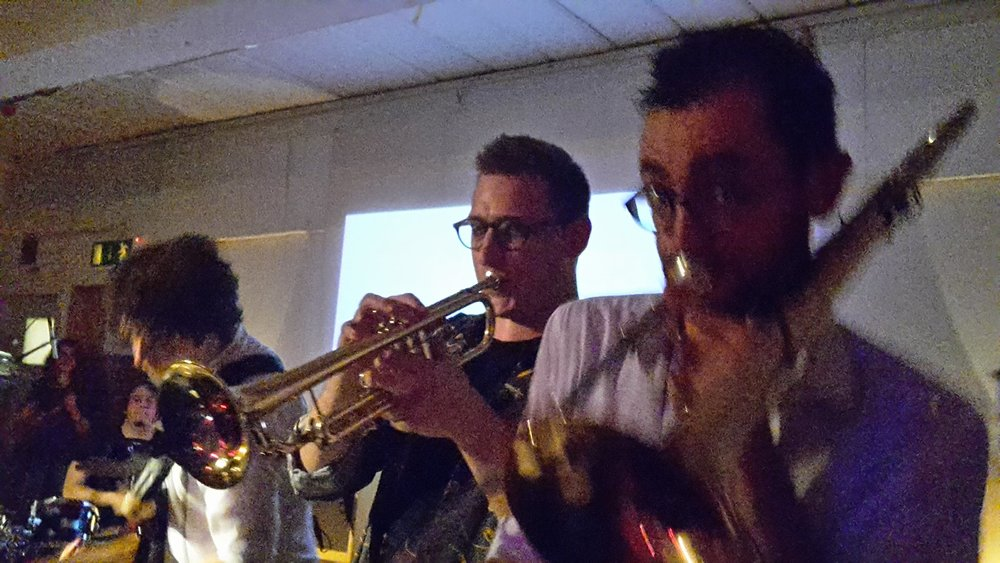 The WUTMT brass section (Jim & Yusuf)