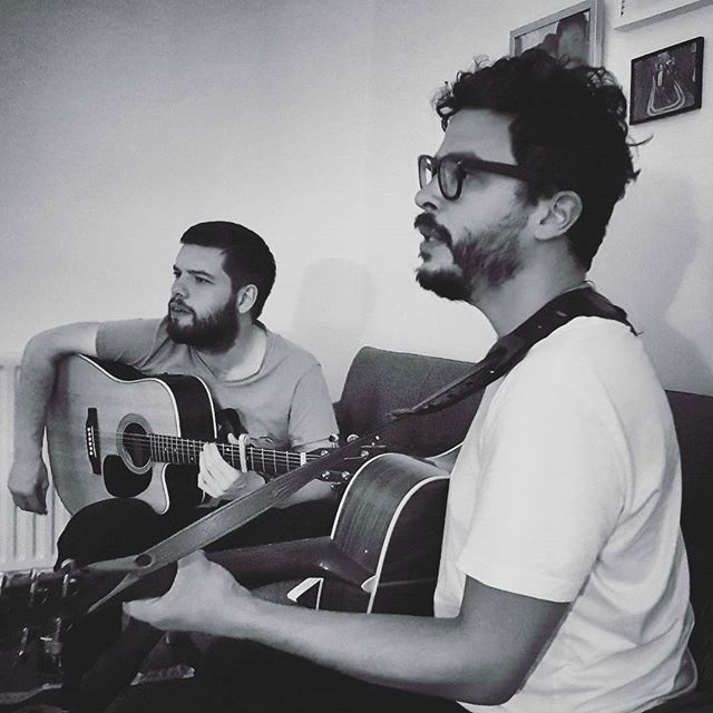 More beards! More music! #london #band #acoustic #guitar #martinguitar #beard #bearded #facialhair #music #rehearsal #songwriting #picoftheday #mycity #hackney #islington