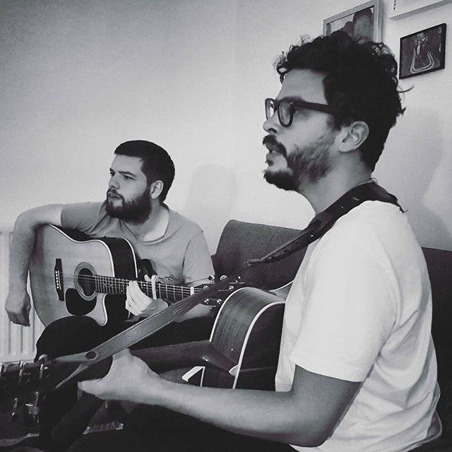 More beards! More music! #london #band #acoustic #guitar #martinguitar #beard #bearded #facialhair #music #rehearsal #songwriting #picoftheday #mycity #hackney #islington
