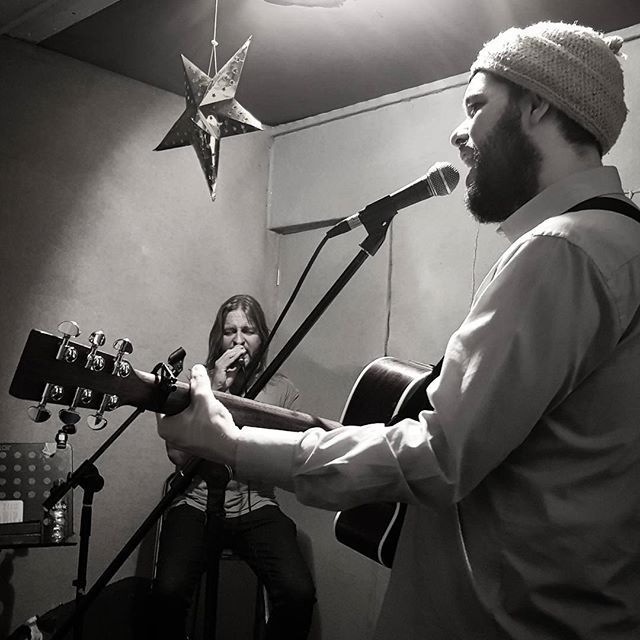 Darth Matt and Kenneth Skywalker star in low budget recreation of Star Wars. #props #starwars #london #band #martinguitars #rehearsals #music #musicals #instagood #mycity #beards #men #guitars #hackney #harmonies #picoftheday