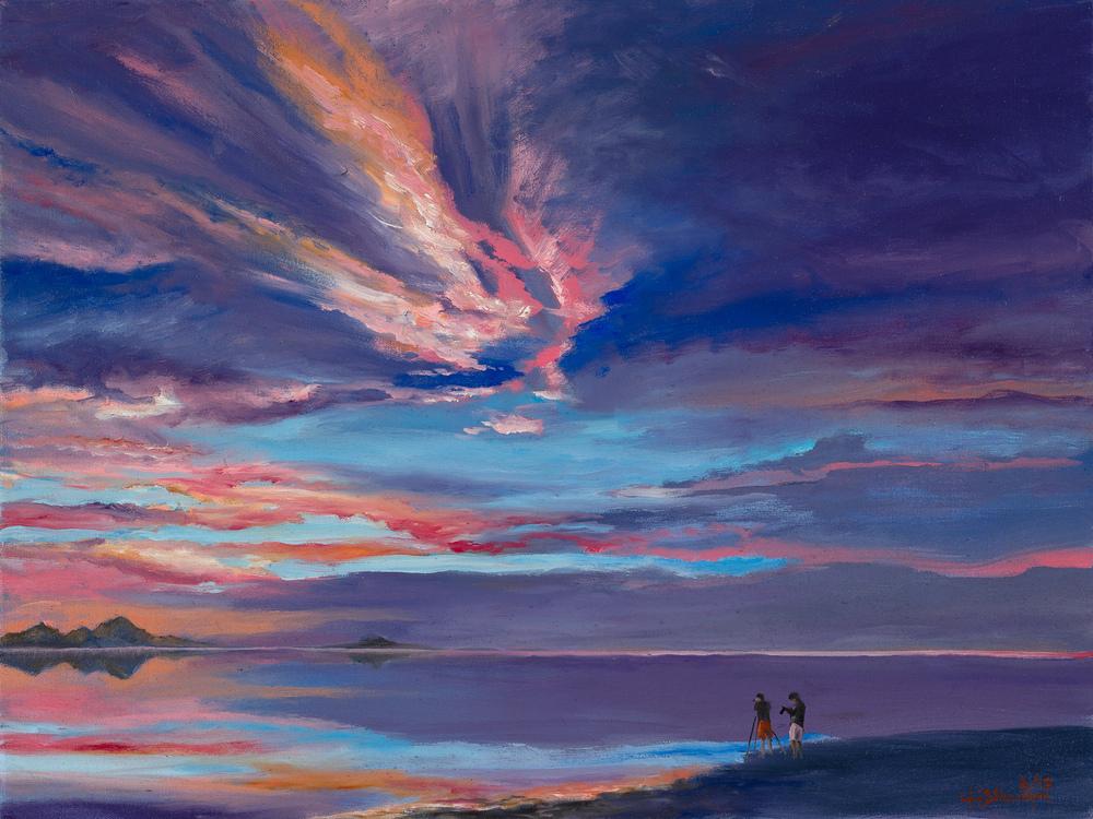 Bonneville; The last sunset 18x24 oil on canvas $995.00