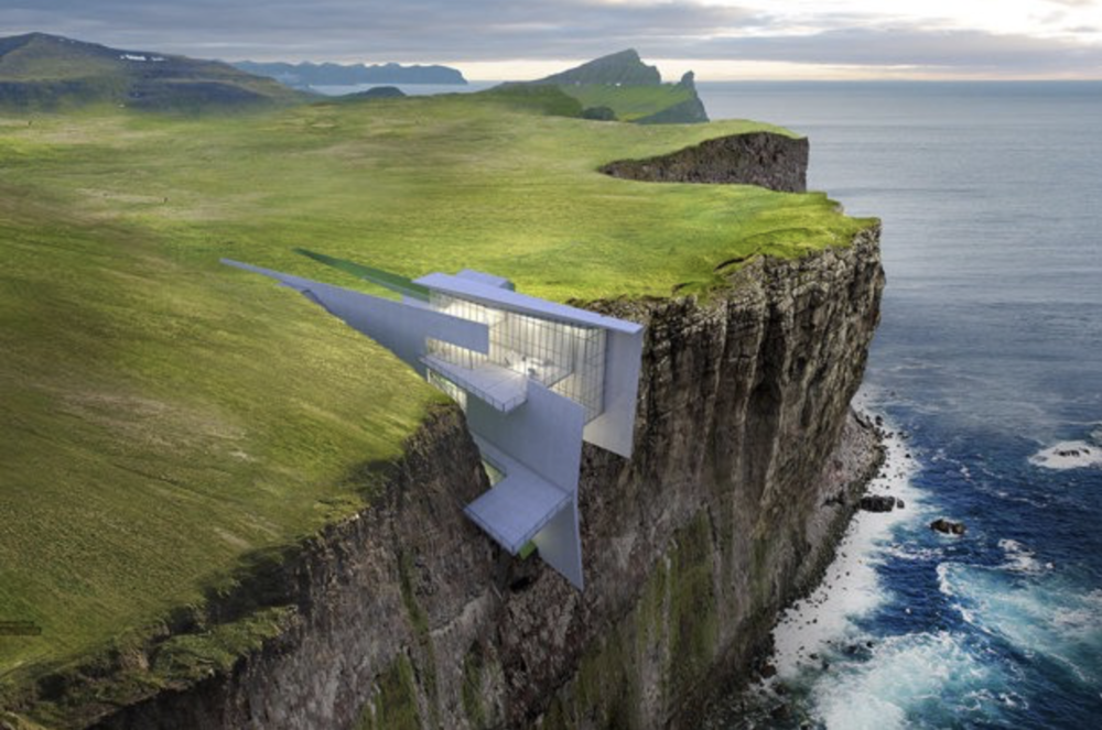 This is an actual hotel in Iceland, no photoshop here