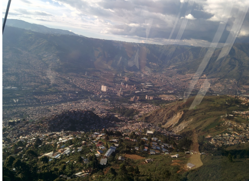 David's View From A Cable Car Overlooking Medellin