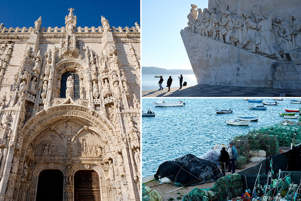 Jerónimos Monastery; Padrão dos Descobrimentos; and the fishing village of Cascais
