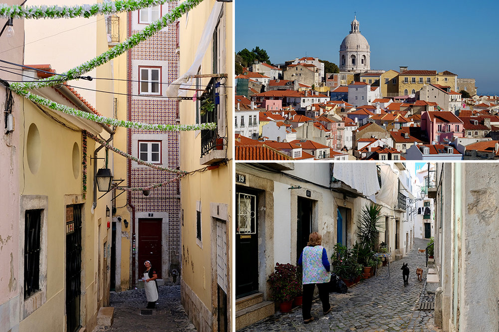 Walking through Lisbon's Alfama district