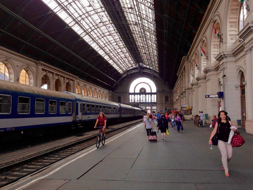 Budapest Keleti Railway Station.