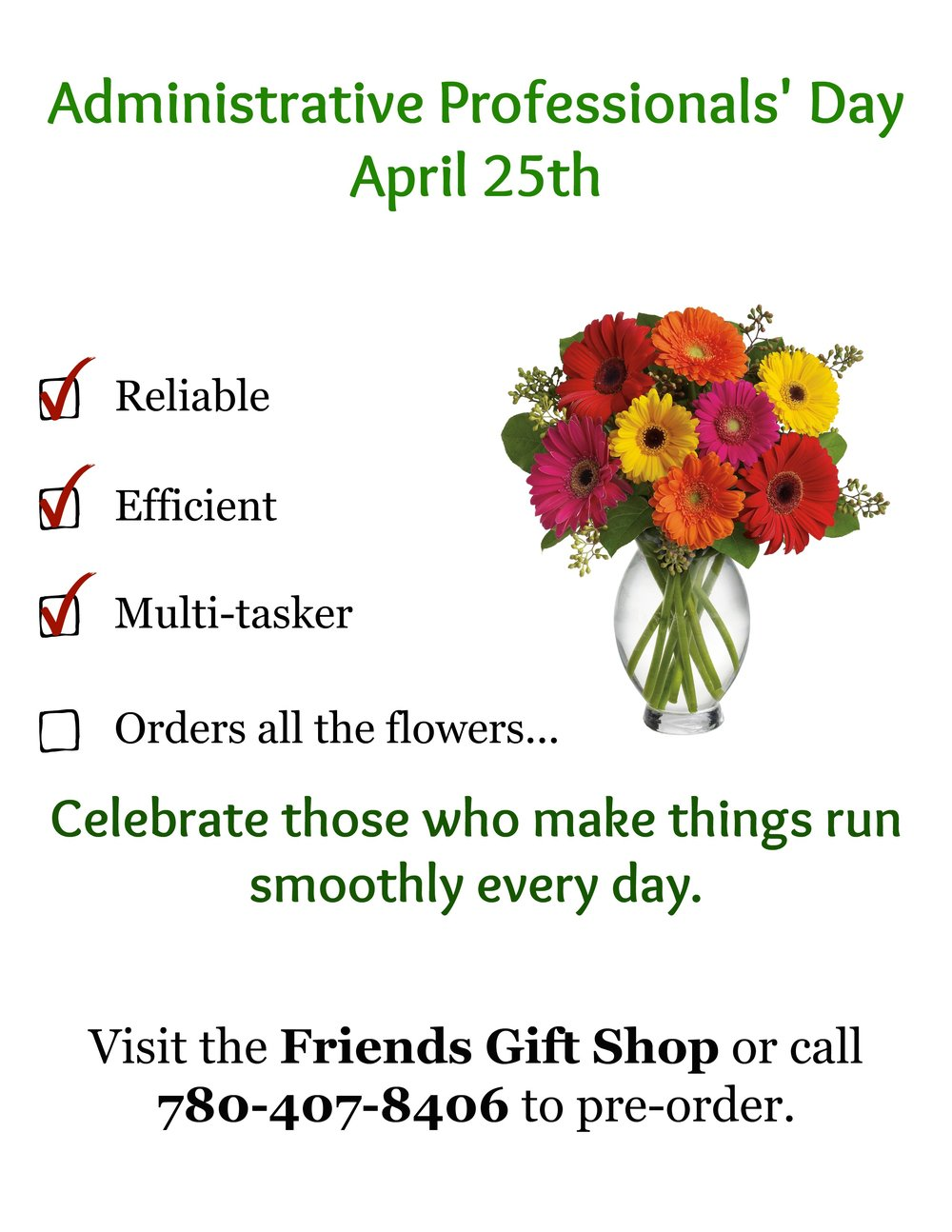 april 25th administrative professionals day friends of