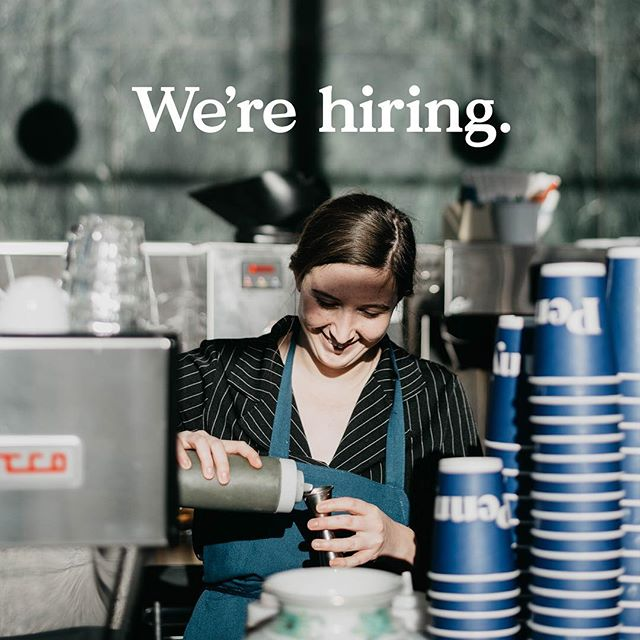 We're hiring for all of our cafes - Wayzata, Downtown & W44! We start our people off at $15/hour and offer health care and dental plans to those who work 30+ hours/week. Sounds like a good gig right? Email your resume to people@pennyscoffee.com to apply!
