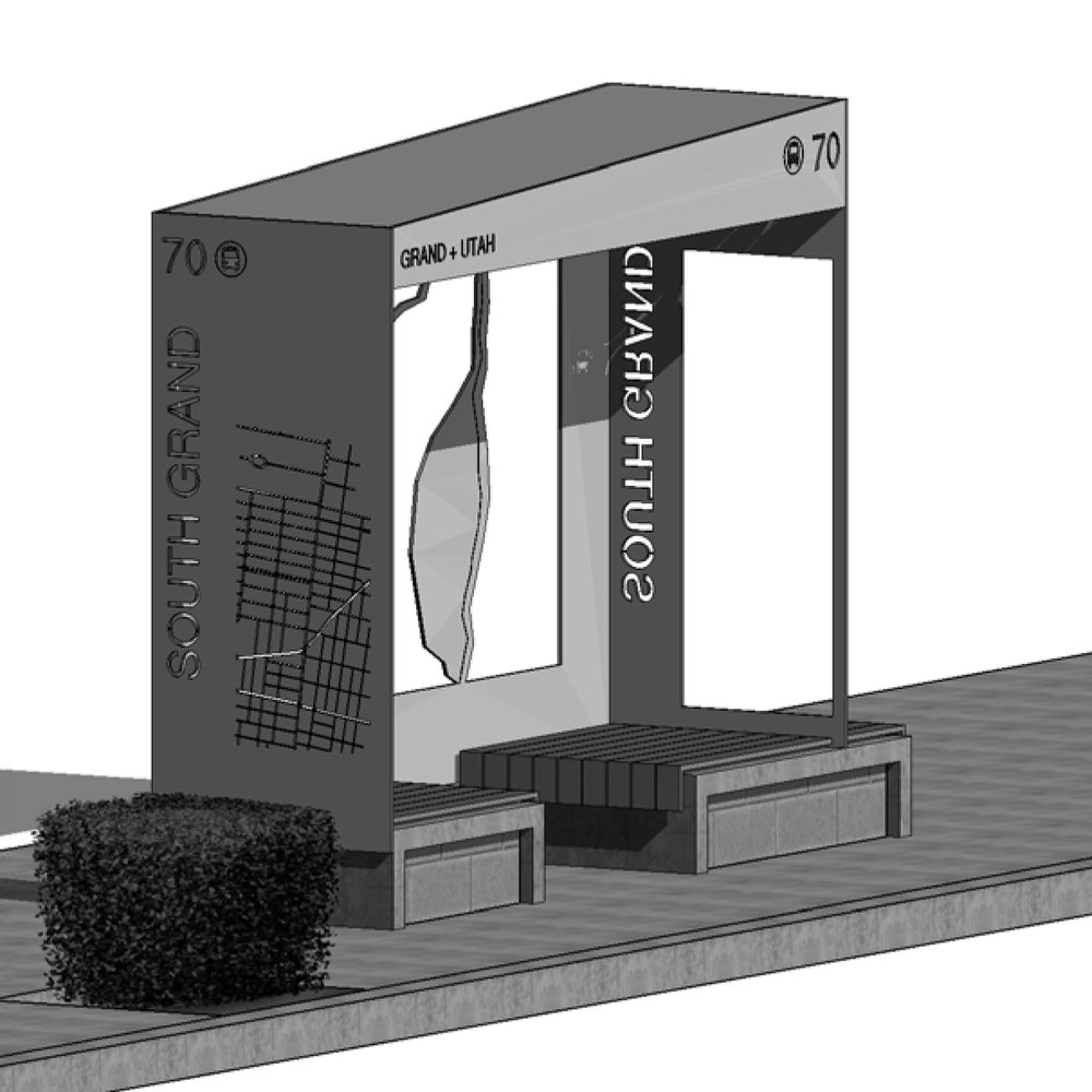 SOUTH GRAND BUS SHELTER CONCEPT