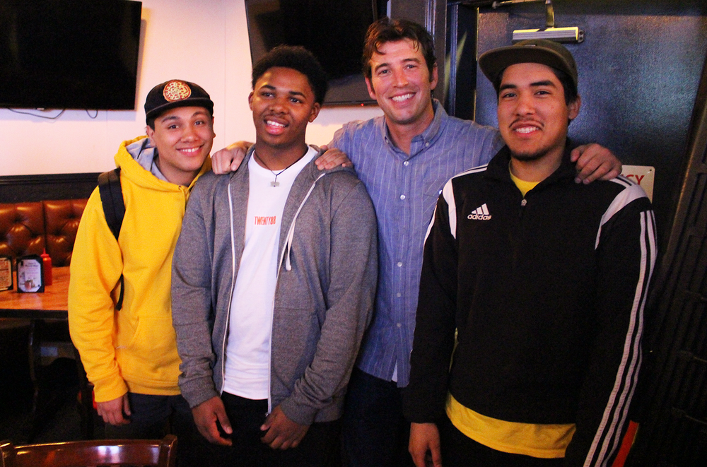 Johnny, the CSP founder, is pictured above with three CSP student participants.