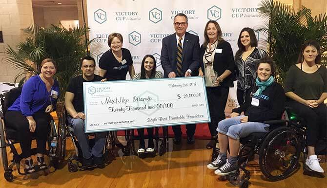 The grand prize winner of $20,000 was  NextStep Orlando , an organization that provides specialized exercise-based recovery programs for those living with spinal cord injuries, giving them the opportunity to achieve their greatest recovery potential.   Read more here.
