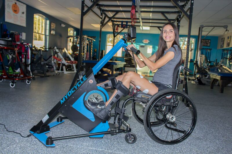"""""""We have a really positive atmosphere here – trainers, staff, clients, families. It helps people struggling with paralysis emotionally and mentally, not just physically. We're all going through the same thing.""""   Read more here."""