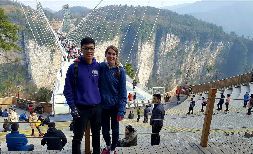 Spend a day of your Zhangjiajie trip checking out the famous glass bridge and canyon below