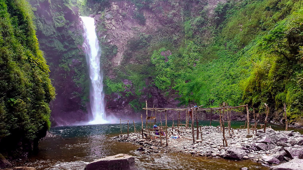 Tappiya Falls was a welcome oasis after hiking through Batad
