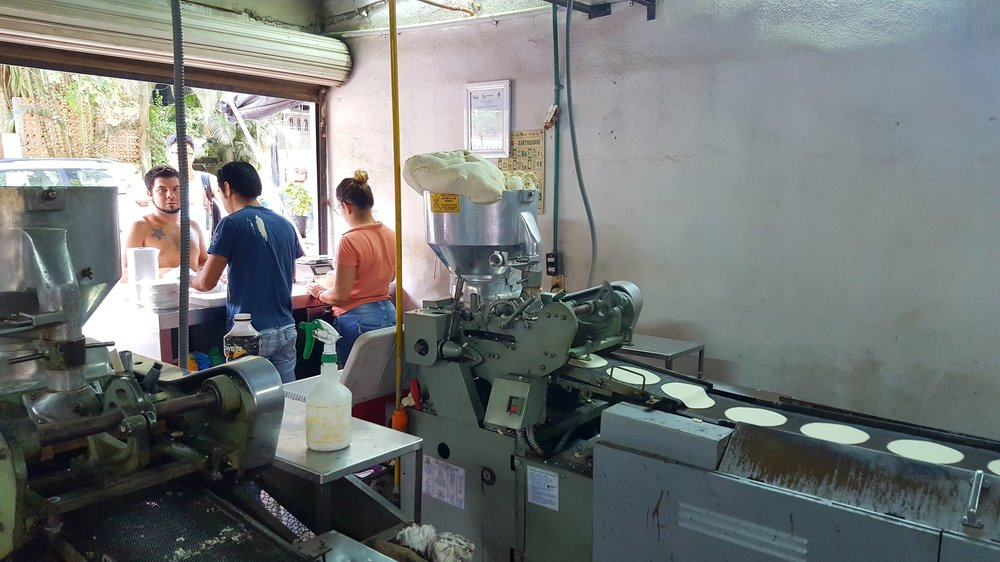 Behind the scenes at a small tortilla shop in Sayulita