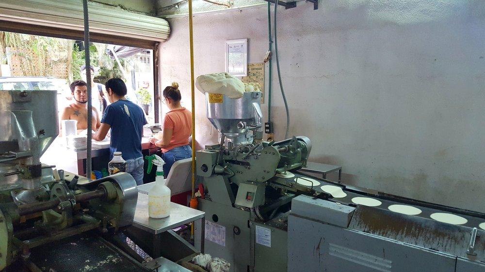 Behind the scenes at a small tortilla shop in Sayulita