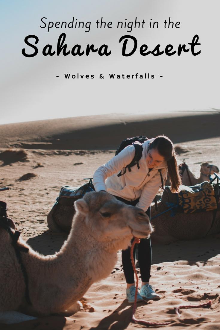 Spending the night in the Sahara Desert, Morocco
