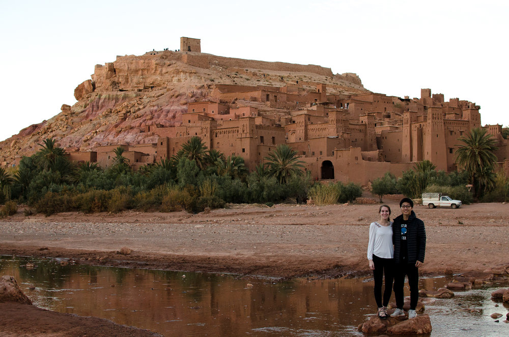 The front side of Ait Benhaddou in Morocco