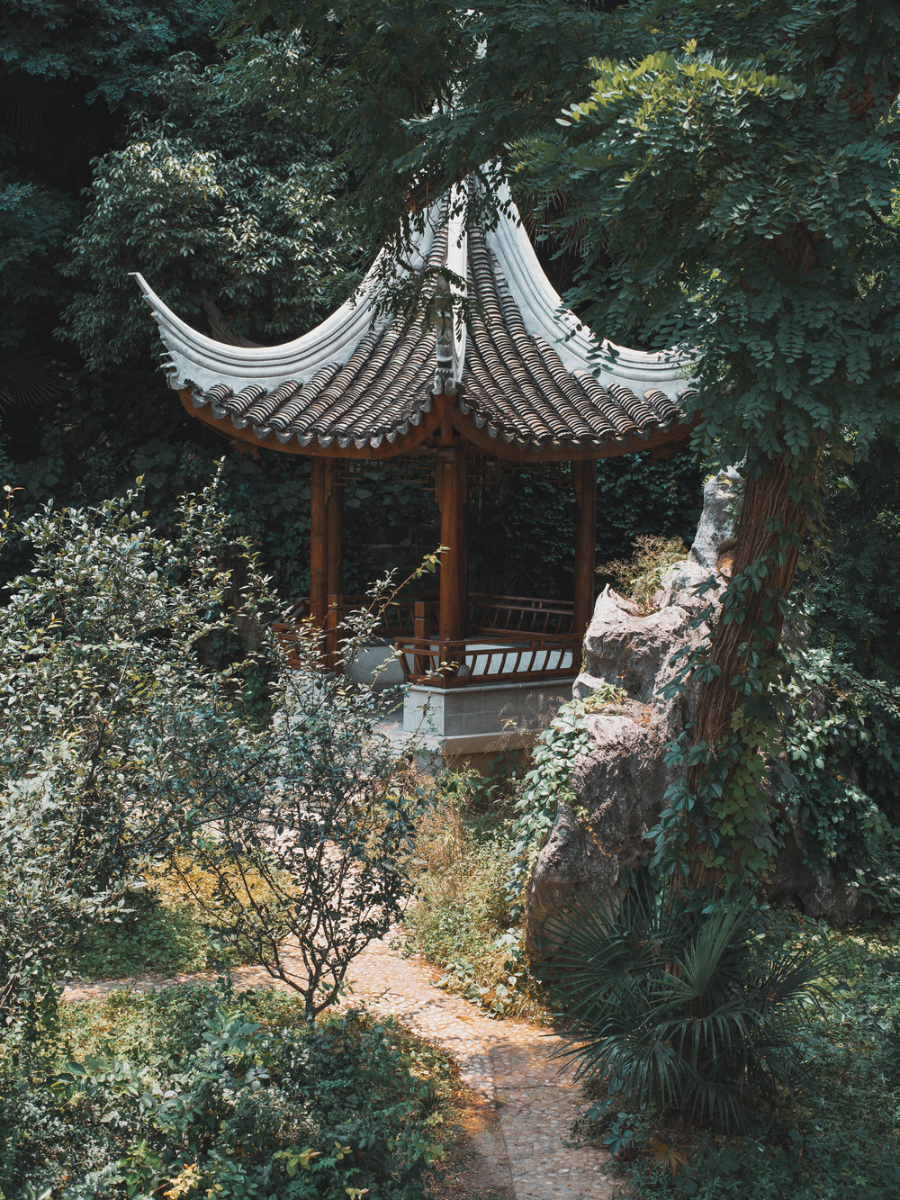 A temple at the Nanjing Art Institute
