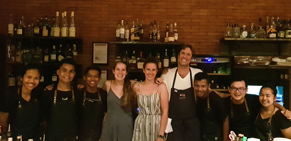 Meeting Will Goldfarb and his staff at Room 4 Dessert in Ubud, Bali