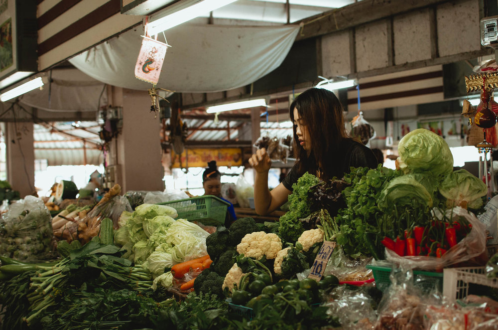 Cheap and fresh produce at a local market in Chiang Mai