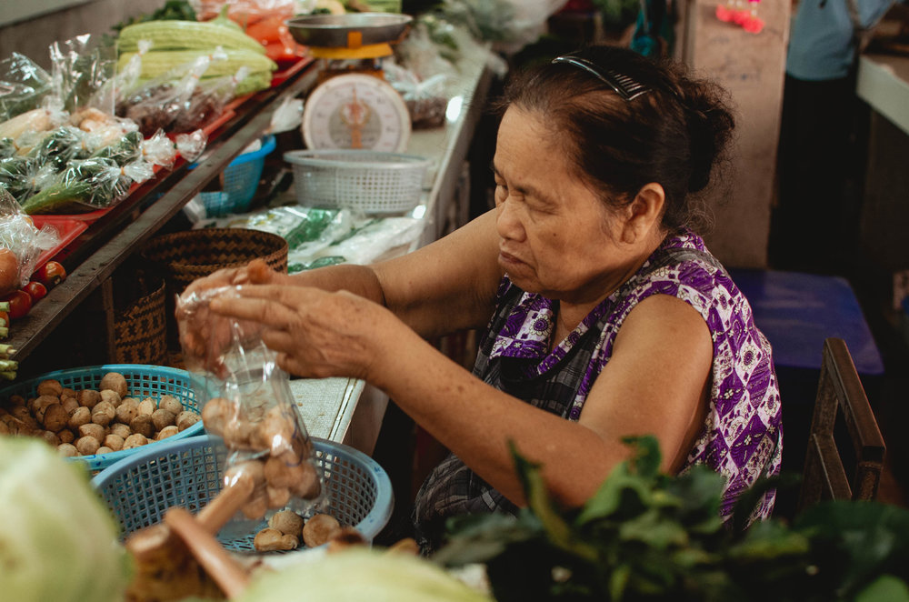 We toured a local market as part of our Thai cooking class experience