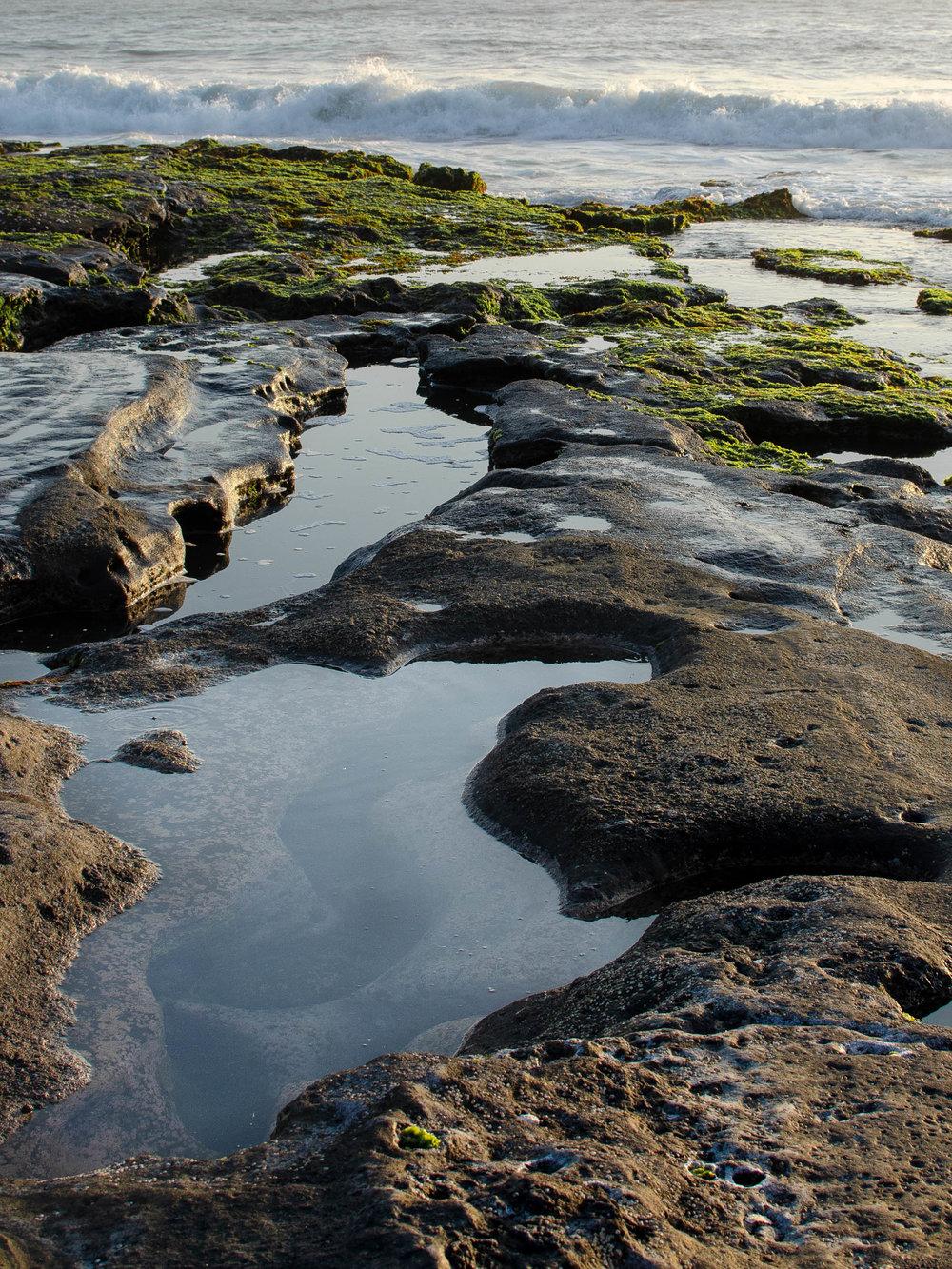 Tide pools at Tanah Lot