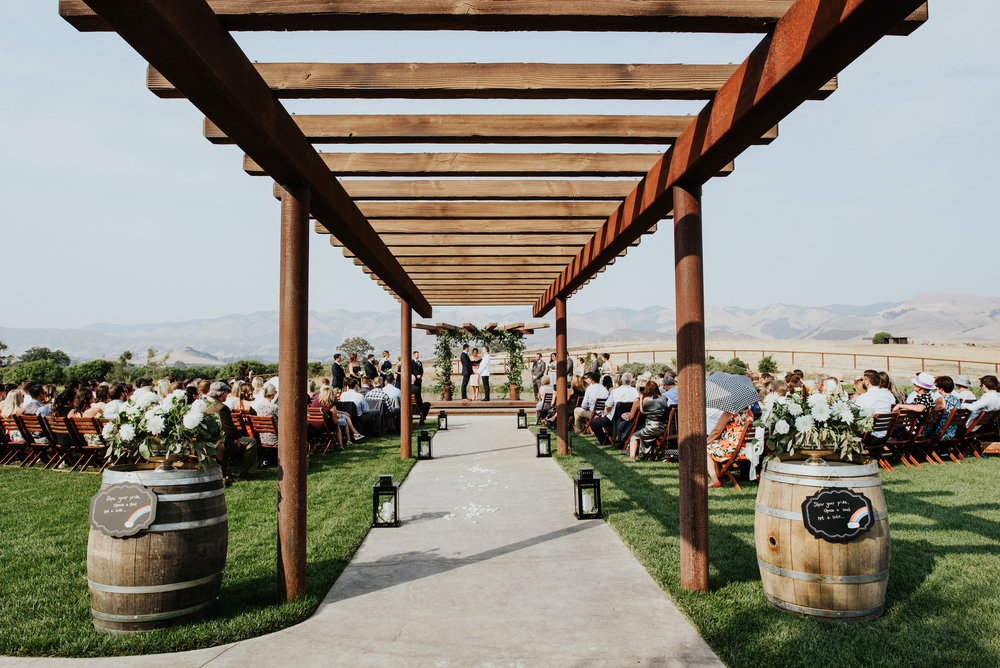 How stunning is this ceremony site?!