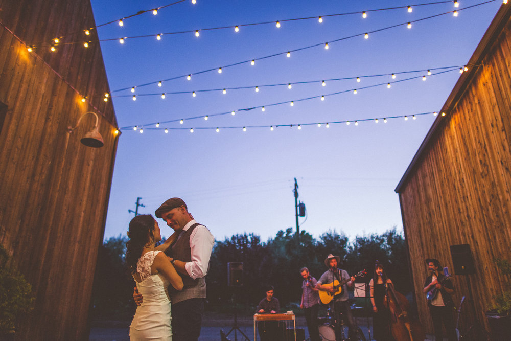 these two had the sweetest first dance as the Shawn Clark Family Band played in the background