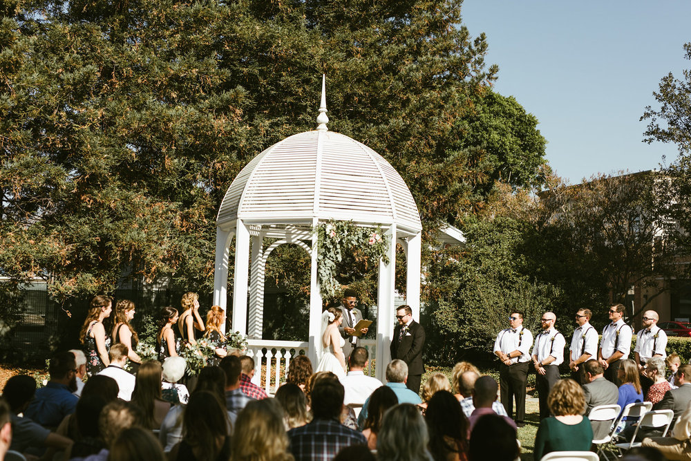 We had perfect weather, and the ceremony was lead by a dear friend of theirs. It was beautiful!