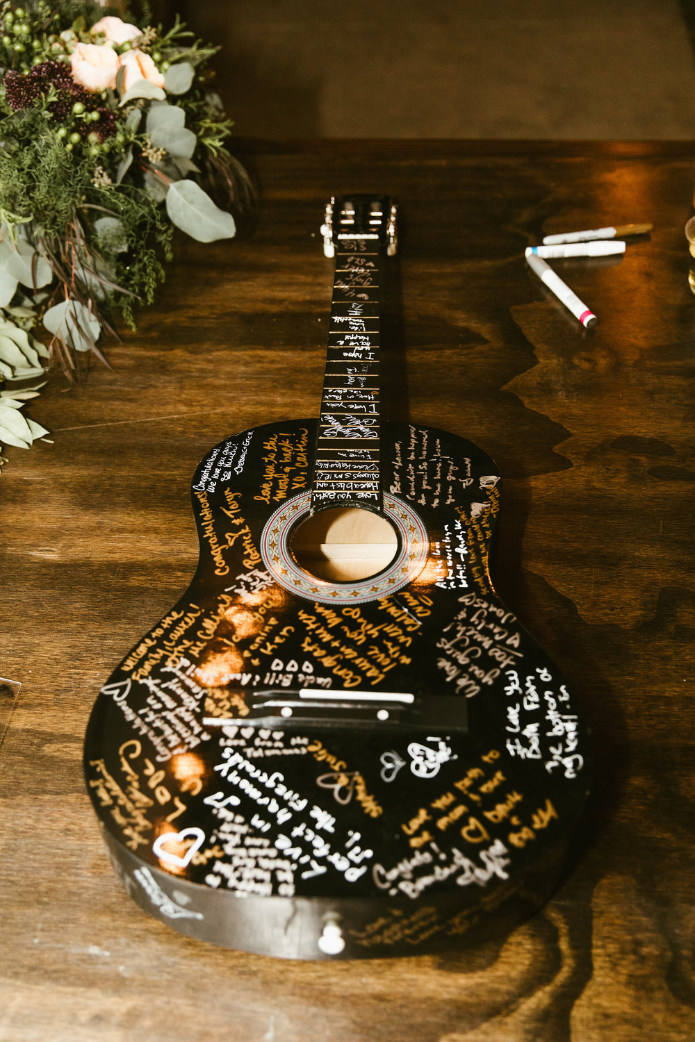 i love this idea for a guestbook!