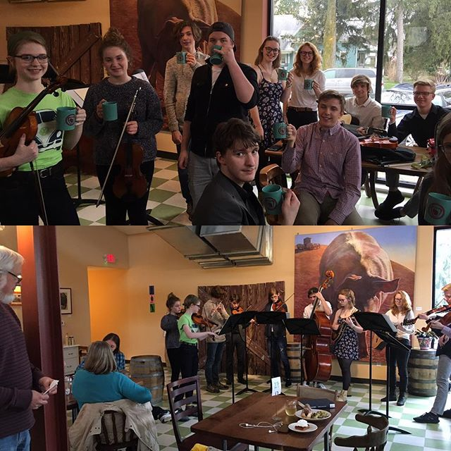 MHHS Fiddle band had s great time at BRIX cider!