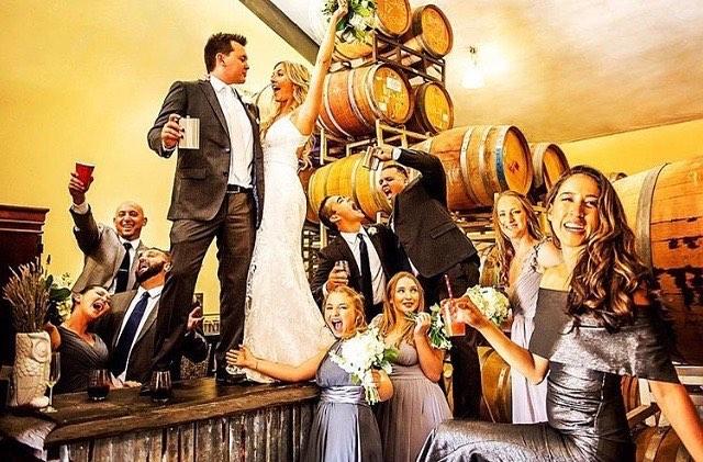 First shot from last weeks wedding @lefondusac! Such a great group! #lefondusac #lefondusacweddings #wineontap #centralcoastweddings #wedding #tincity #tincitypaso #pasorobleswine #love  Thanks Stacey Adams Photography! @staceyadamsphoto