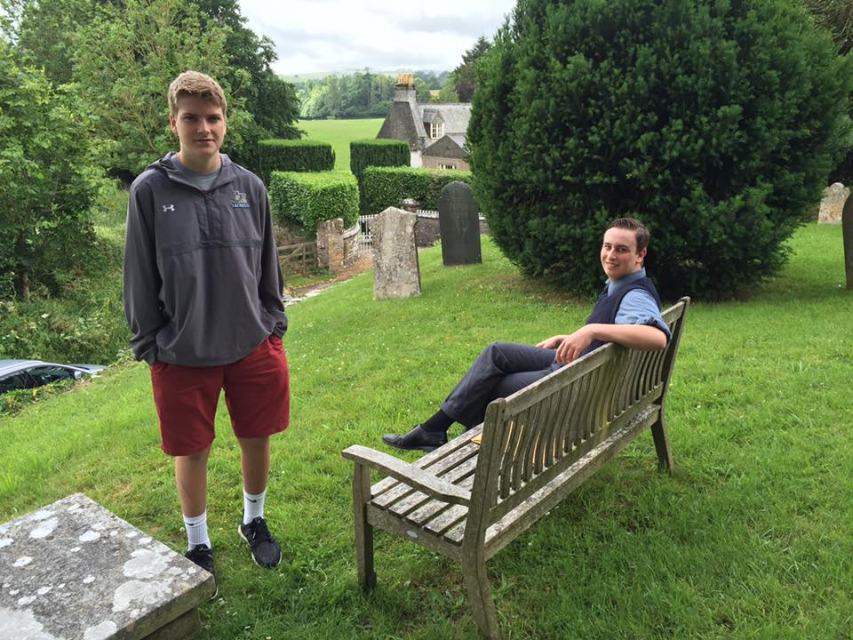 Rhys Healey and Benjamin Crowe at Berry Pomeroy