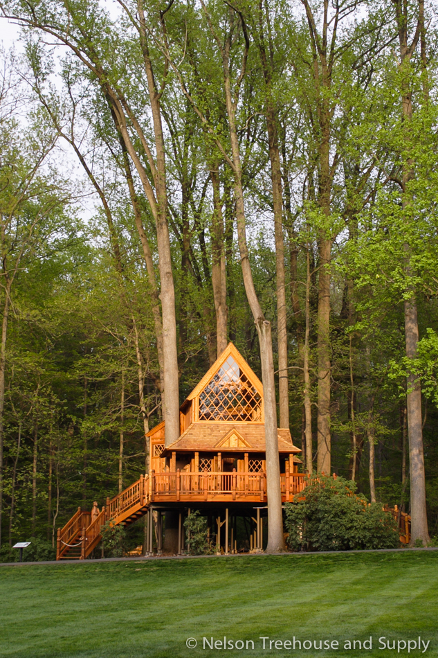 Canopy Cathedral treehouse in Longwood Gardens, Pennsylvania