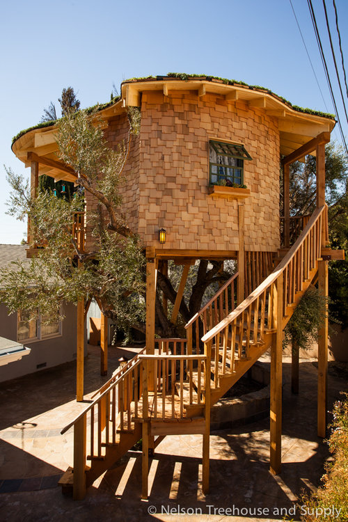irish cottage treehouse in huntington beach california