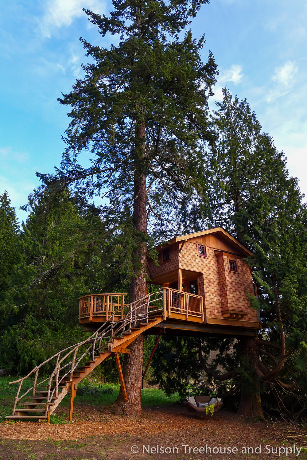 Working with my son Charlie on this treehouse at  treehouse resort and spa  was a dream come true.