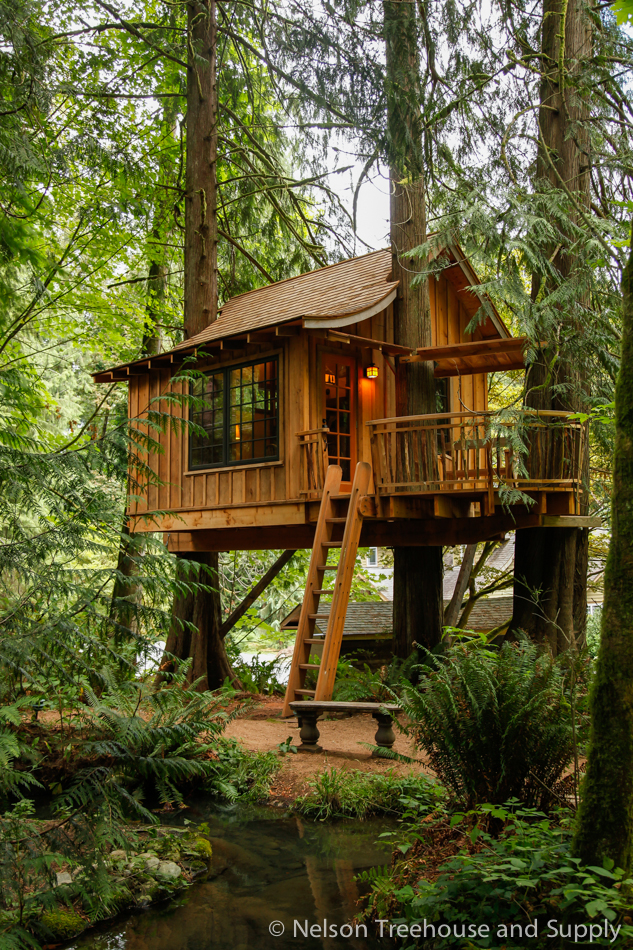 I loved building the upper pond treehouse at  Treehouse Point .