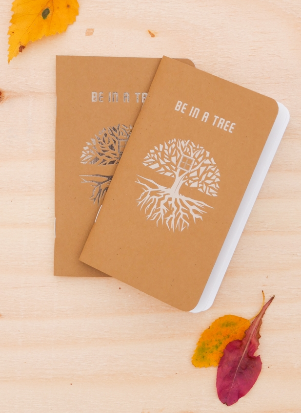 notebook cover be in a tree