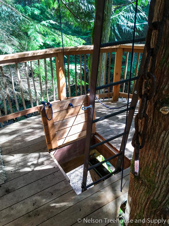 adventure headquarters treehouse trapdoor