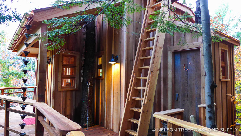 tree house decks diy ships ladder nelson treehouse