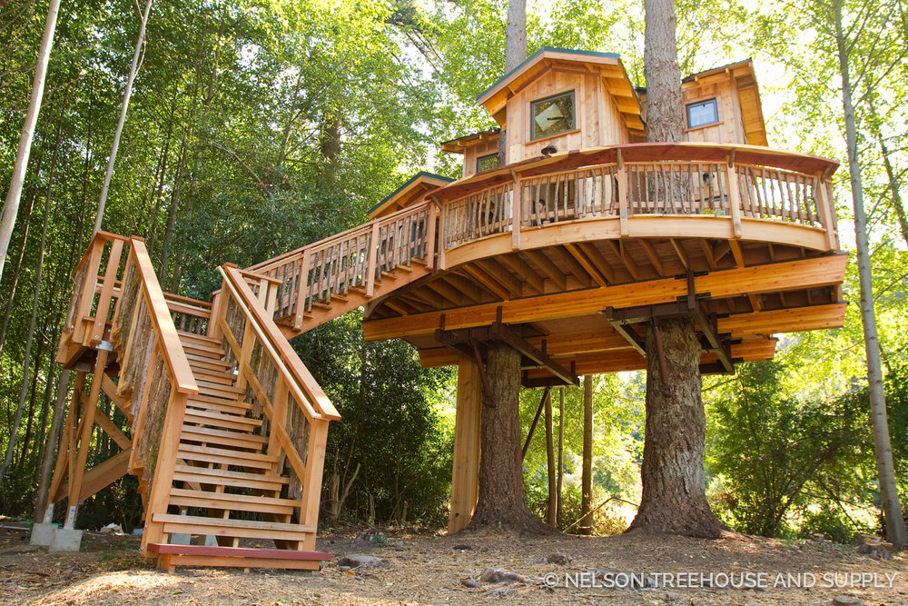 Treehouse off-tv photo tour: orcas island treehouse part ii, the reveal