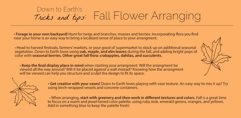 fall flowers tips